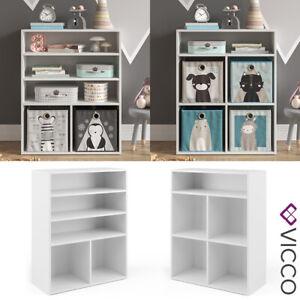 Vicco Kinderregal Luigi für Faltboxen weiß Bücherregal Spielzeug Aufbewahrung
