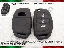 GUSCIO CHIAVE COVER HYUNDAI SILICONE i10 i20 i30 ix20 SANTA FE nero key shell