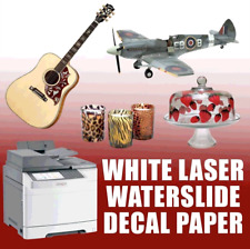 Waterslide Decal Paper- LASER WHITE 10 Sheets 8.5x11