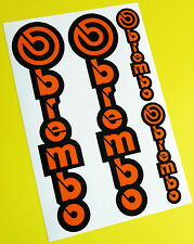 Brembo Motorbike Motorcycle Fork Decals Stickers ORANGE/BLACK KTM