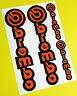 Brembo Motorbike Motorcycle Fork Decals Stickers ORANGE/BLACK KTM