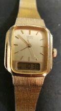 Vintage Seiko Ladies Analog Digital Dual Time Watch E029-5159 New Battery