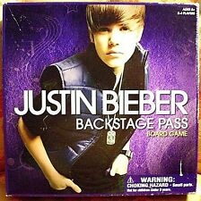 "JUSTIN BIEBER BOARD GAME>>""BACKSTAGE PASS"">>NOSTALGIA PIECE>>2010>>INCOMPLETE"