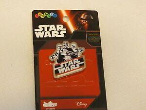 Star Wars crocs jibbitz shoe charm Dark Side F15 badge card storm troopers RARE