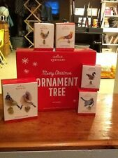 Hallmark Twelve 12 Days Of Christmas Display Tree And First 6 Ornaments Lot