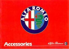 Alfa Romeo ACCESSORIES UK market brochure 1980s Alfasud Alfetta Giulietta 33