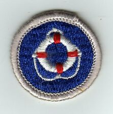 Lifesaving Merit Badge Type G, Cloth Back  (1969-71), Mint!