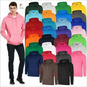 Uneek Deluxe Hooded Sweatshirt Soft Casual Mens Pullover Hooded Jumper XS-5XL