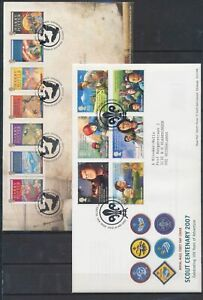 XC51992 Great Britain 2007 Harry Potter scouts centenary FDC's used
