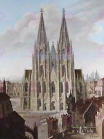 Painting Cityscape Cologne Enslen After Boisseree Cathedral Canvas Art Print