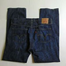 Levis 501 Men 36 x 32 Blue Jeans Button Fly Jeans Straight Leg Dark Wash Denim