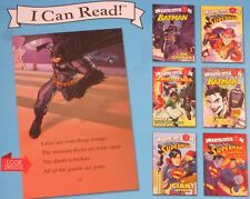 NEW 6 BOOK Set I CAN READ Lot - SUPERMAN BATMAN Children Super Heroes LEARN TO 2