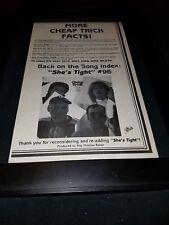 Cheap Trick She's Tight Rare Original Radio Promo Poster Ad Framed!