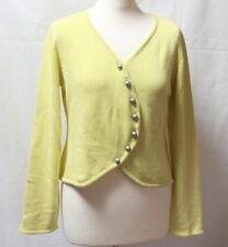 Gilet cardigan coton jaune anis Phildar t. 38 / 40