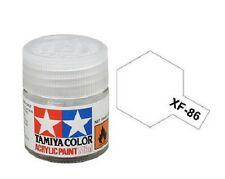 Tamiya 81786 XF86 Flat Clear 10ml Acrylic Paint Color Mini Bottle Model XF-86