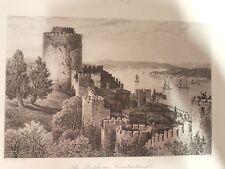 Acier clés dans le passe-partout, The Bosphorus, Constantinople, pour 1850 (sti-253)
