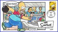USA #4399 U/A COLLINS HAND PAINTED FDC   Homer Simpson