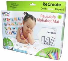 Smart Play ReCreate-Large Reusable Animal Alphabet Coloring Mat