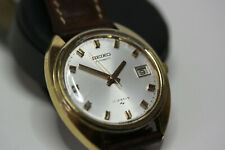 VINTAGE 7005 SEIKO AUTOMATIC 17 JEWELS MENS GOLD WATCH