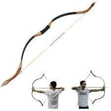 """30-50Lb Traditional Handmade 53"""" Recurve LongBow Archery Hunting Right Left Hand"""