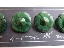1930 Vintage Sm 4-Petal Domed Flower Green Jacket Dress Collectible Buttons-20mm