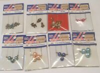 8 Westrim Crafts Painted Pearl Theme Ornaments Miniatures Vintage Mini Christmas