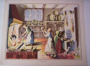 Vintage Colour Print Busy Cooks Lithograph Poster 1950s 59