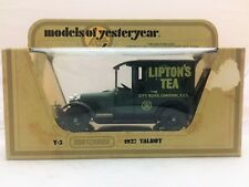 Matchbox Models of Yesteryear Y5 1927 Talbot Lipton's Tea (Damaged Box)