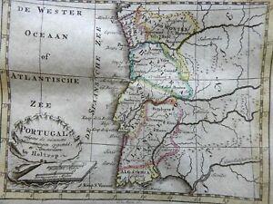 Portugal Algarve Beira Tra Los Montes Lisbon 1780 Holtrop miniature map