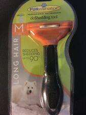 FURminator deShedding Tool for Long Hair Dogs Medium 21-50lbs.