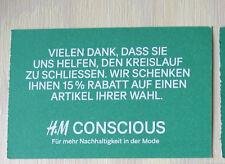 H&M Gutschein Rabatt 15 %