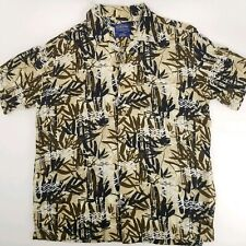 Pendleton Mens Large Short Sleeve Button Front Hawaiian Camp Shirt Rayon Aloha