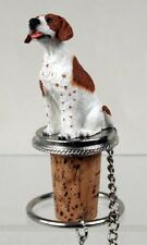 Pointer Brown Dog Hand Painted Resin Figurine Wine Bottle Stopper
