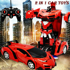 Transformer RC Robot Toy Birthday Gift Boy Model Car Remote Control Kids Toys