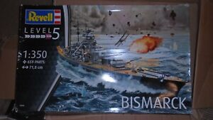 Revell 1/350 Bismarck WW2 German DKM Battleship  Model Kit 05040
