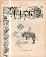 1896 Life April 9-Armenian massacres are condemned; Chicago Doctors right of way