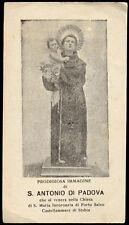 """santino-holy card""""S.ANTONIO DA PADOVA-CASTELLAMMARE DI STABIA"""