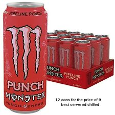 MONSTER ENERGY PIPELINE PUNCH 12 X 500ML CANS INOSITOL + B VITAMINS ENERGY DRINK