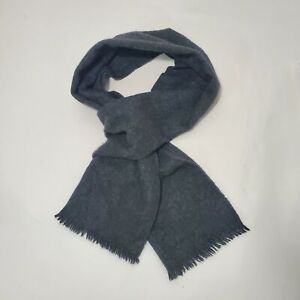 """Vintage Marshall Field 100% Cashmere Fringed Scarf Neck Wrap Gray 23"""" x 11.5"""""""