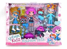 4 EVER KIDZ FASHION PETZ DOLL CLOE 30 EASY SNAP-ON FASHION PIECES