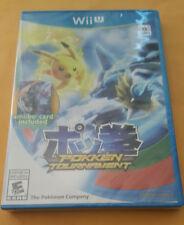 Pokken Tournament (Nintendo, Wii U) First Edition w/ Shadow Mewtwo card - New!