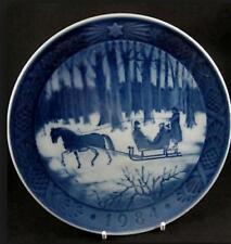 """Royal Copenhagen 1984 """"Jingle Bells"""" Plate Pre-Owned"""