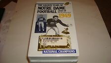 The Golden Years of Notre Dame Football 1946-49 VHS 4 Tape Set