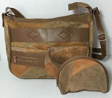 New Women Leather Patchwork shoulder bag purse organizer cross body bag Handbag