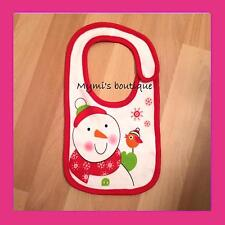 Bavoir bavette bonhomme de neige pour bébé - Tiny Tillia Avon - idéal pour Noël