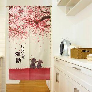 Japanese NOREN Door Curtain Bloom Doorway Divider Tapestry Hanging Drapes