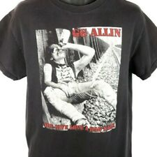 GG Allin T Shirt Vintage 90s You Give Love A Bad Name Punk Made In USA Medium