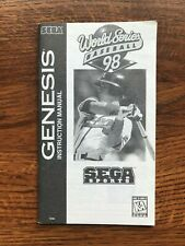 World Series Baseball 98 Chipper Jones Sega Genesis Game Instruction Manual Only
