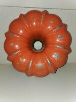 Vintage Heavy Bundt Bunt Cake Orange Northland Cast Aluminum Metal Mold Pan