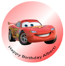 """LIGHTNING MCQUEEN #2 8"""" Round Icing Image Edible Printed Cake Decoration Topper"""